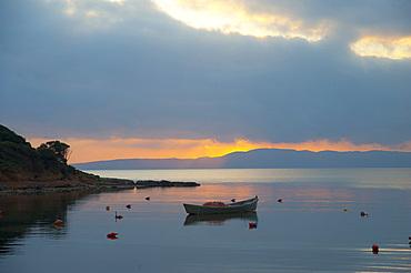 Sunset, Is Solinas, Masainas, Sardinia, Italy, Europe