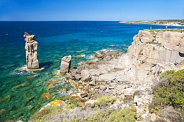 Le Colonne, Carloforte, Island of San Pietro, Sardinia, Italy, Europe