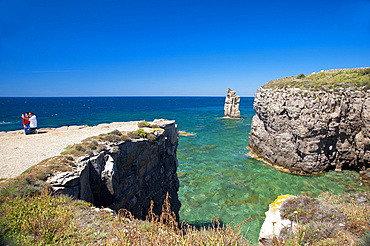 Selfie, Le Colonne, Carloforte, Island of San Pietro, Sardinia, Italy, Europe
