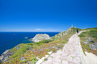 Capo Sandalo, Lighthouse, Carloforte, Island of San Pietro, Sardinia, Italy, Europe