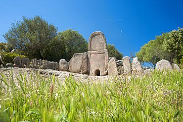 Tomba dei Giganti Coddu Ecchiu, Arzachena, Sardinia, Italy, Europe