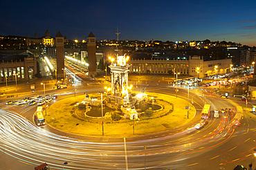Plaça d'Espanya, Barcelona, Catalonia, Spain, Europe