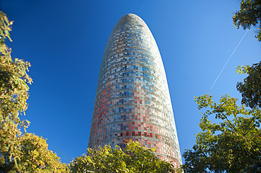 Agbar Tower, Barcelona, Catalonia, Spain, Europe