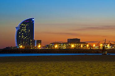 Hotel W, Barceloneta, Barcelona, Catalonia, Spain, Europe