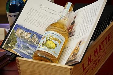 Cédratine traditional liquor, Mattei Store, Bastia, Corse, France, Europe