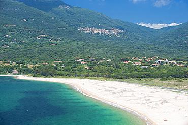 Spiaggia Baracci, Olmeto, sandy beach, Propriano, Corsica, France, Europe