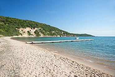 Sant'Amanza beach, Corsica, France, Europe
