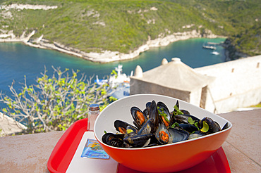 La Minute Moule restaurant, Bonifacio, South Corse, France, Europe