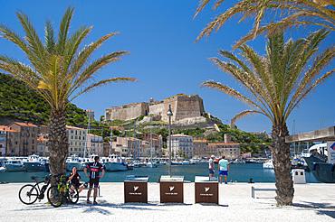 Harbour and Citadel, Bonifacio, South Corse, France, Europe