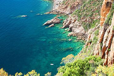 Plage De Bussaglia, sandy beach, Porto, Calanches, Porto, Corsica, France, Europe