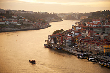 City Porto (Oporto) at Rio Douro. The old town is listed as UNESCO world heritage. Portugal, Europe