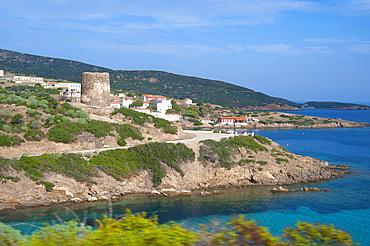 Cala Murichessa, in background Cala D'Oliva, Asinara Island National Park, Porto Torres, North Sardinia, Italy, Europe