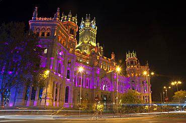 Palacio de Comunicaciones, Calle de Alcalà, Madrid, Spain, Europe