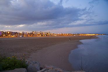 Malvarrosa beach, Valencia, Spain, Europe