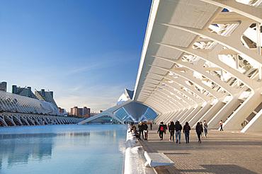 L'Umbracle, Museu de les Ciences Principe Felipe, Ciutat de les Arts i les Ciències, Valencia, Spain, Europe