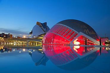 Palau de les arts Reina Sofia, Hemisferic, Ciutat de les Arts i les Ciències, Valencia, Spain, Europe