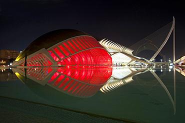 Hemisferic, Assut de l'Or Bridge, Museu de les Ciences Principe Felipe, Ciutat de les Arts i les Ciències, Valencia, Spain, Europe