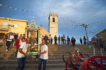 Procession of Santa Maria de is Aquas, Sardara, Sardinia, Italy, Europe