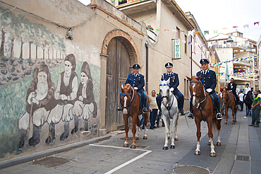 Procession of Santa Maria de is Aquas, Sardara, Sardinia, Italy, Europe
