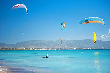 Kitefoil World Championship, Poetto Beach, Cagliari, Sardinia, Italy, Europe