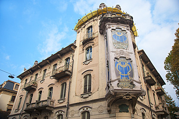 Casa Fenoglio palace, La Fleur, Liberty Palace, Corso Francia, historic city center, Turin, Piedmont, Italy, Europe