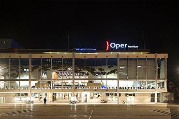 Opera Building, Frankfurt am Mein, Frankfurter skyline, Frankfurt, Hesse, Germany, Europe
