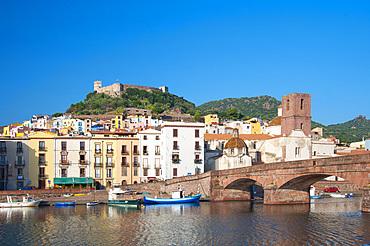 Malaspina Castle and River Temo, Bosa, Sardinia, Italy, Europe