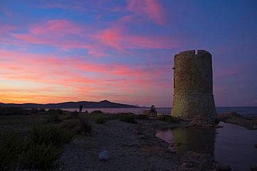 San Giovanni Tower; La Caletta, Siniscola, Sardinia, Italy, Europe