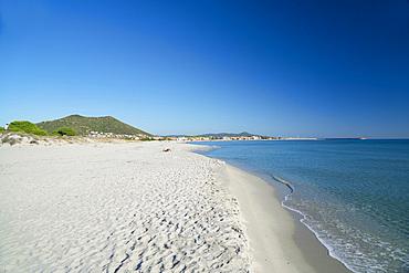 La Caletta Beach, Siniscola, Sardinia, Italy, EuropeCaletta; Siniscola; Sardinia; Sardinian; Sea; Sand; Beach; Coast; East; Dunes; Port; Horizontal
