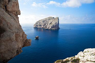 Foradada Islet, Capo Caccia, Alghero, Sardinia, Italy, Europe