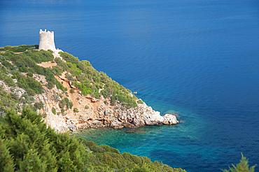 Torre del Buru, Capo Caccia, Baia di Porto Conte, Alghero, Sardinia, Italy, Europe