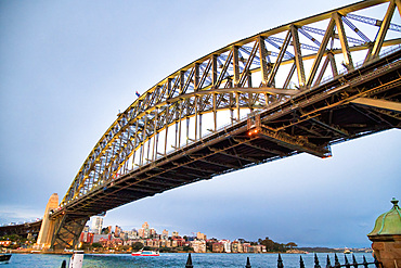 Sydney Harbor Bridge at sunset, Australia