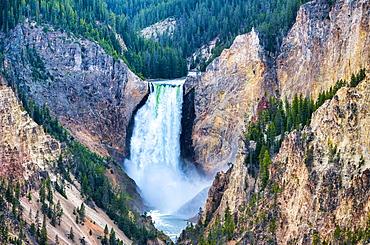 Lower Falls of Yellowstone Grand Canyon, Wyoming.