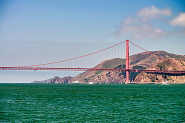 San Francisco. Golden Gate Bridge on a beautiful summer day.