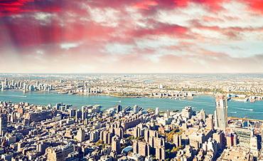 New York night skyline - 746-89506