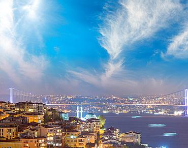 Sunset over Istanbul, Turkey.