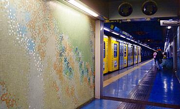 Materdai metro station, Naples, Campania, Italy, Europe