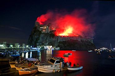 Ischia Porto, Ischia island, Neaples, Campania, Italy, Europe.