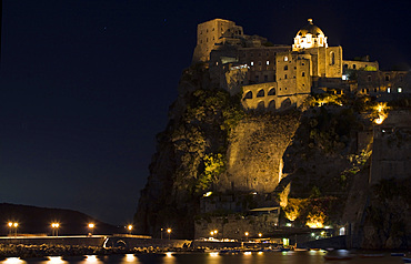 Aragonese castle, Ischia island, Campania, Naples, Italy, Europe.