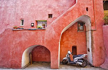 Procidan house, Procida island, Naples, Campania, Italy, Europe.