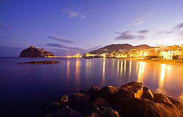 Aragonese castle, Ischia Ponte, Ischia island, Campania, Italy, Europe