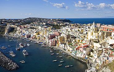 La Corricella, Procida island, Naples, Campania, Italy, Europe