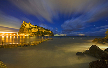 Aragonese castle, I schia Ponte, Ischia island, Campania, Italy, Europe