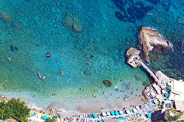 Marina Grande beach, Capri island, Naples, Campania, Italy, Europe.