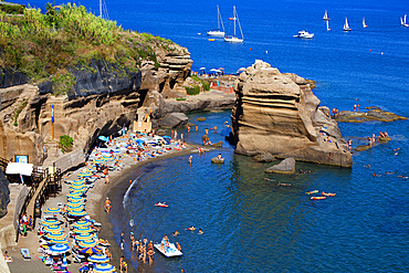 Calanave beach, Ventotene island, Pontine Islands, Lazio, Italy, Europe
