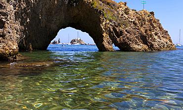 Caciocavallo rocks, Ponza island, Pontine islands, Lazio, Italy, Europe
