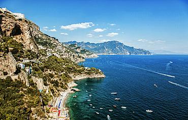 Lido Degli Artisti bay, spiaggia Duoglio, Amalfi Coast, Campania, Italy, Europe