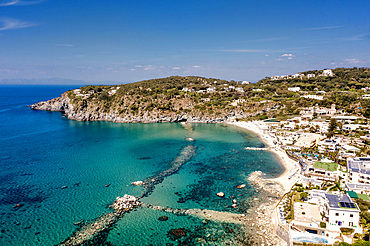 Aerial view, Forio d'Ischia, Ischia island, Campania, Italy, Europe