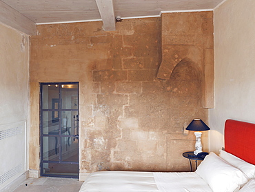 One of the rooms of Palazzo Gattini a luxury hotel located in Piazza del Duomo in Matera, Basilicata, Italy, Europe