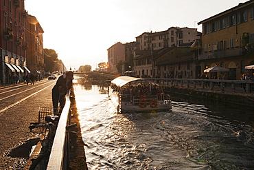 Navigli neighborhood in Milano where the Restaurant Damm atra is located, Milan, Italy, Europe